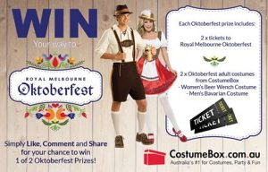 Costume Box – Win a double pass to the Royal Melbourne Oktoberfest & 2 costumes