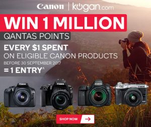 Kogan Australia – Win 1 MILLION Qantas Points with Canon