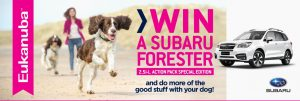 Petbarn – Win a 2017 plated Subaru Forester Action Pack Special Edition in White automatic valued at up to $38,000