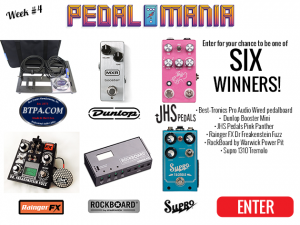 Premier Guitar – Pedalmania 2017: Week #4 – Win 1 of 6 prizes