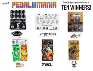 Premier Guitar – Pedalmania 2017 – Win 1 of 10 prizes during week #1 of Pedalmania 2017