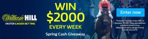 Prime7 – William Hill – Spring Cash Giveaway – Win $2,000 Every Week