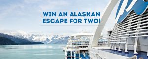Travellers Choice – Win an Alaskan Escape for 2 onboard Ruby Princess valued at AU$8,000 including flights