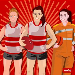 AAMI – Win A Signed Football By Both Captains Of 2017 Nab Aflw State Of Origin Match