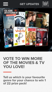 Fox Movies – Win 1 Of 22 Prize Pack
