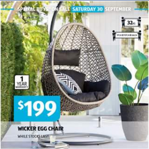 Aldi – Win a Comfy Egg Chair (prize valued at $199)