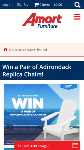 Amart Furniture – Win A Pair Of Adirondack Replica Chairs (prize valued at $2,086)