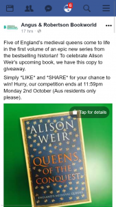 Angus & Robertson Bookworld – Win a Copy of Queens of The Conquest