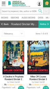 Angus  Robertson – Win One Of Five Gorgeous Sets Of The New The Rowland Sinclair Retro Editions Preorder