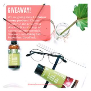 Australian Country – Win 4 X Botani Skincare Australia Beauty Products