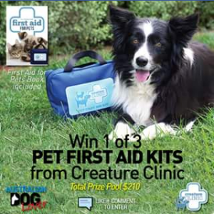 Australian Dog Lover – Win One Of Three Pet First Aid Kits Closes @1pm