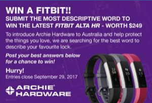 Australian Hardware Journal – Win The Prize (prize valued at $249)