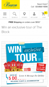 Beacon Lighting – Win A VIP Tour Of The Block Competition