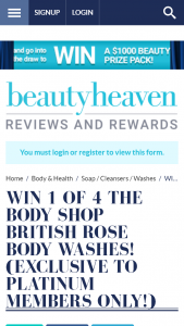 Beauty Heaven – Win 1 Of 4 The Body Shop British Rose Body Washes (prize valued at  $44)