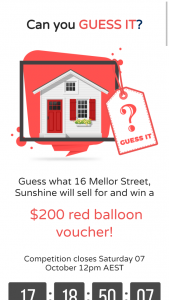 Biggin  Scott – Win A $200 Red Balloon Voucher (prize valued at $200)
