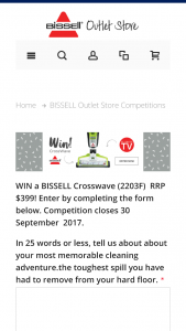 Bissell – Win A Bissell Crosswave (2203f) Rrp $399 (prize valued at  $399)