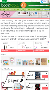 Booktopia – Win A Craft Therapy Book Pack Worth $500 (prize valued at $500)