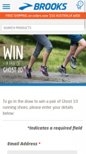 Brooks Running – Win A Pair Of Ghost 10 Running Shoes