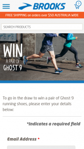Brooks Running – Win A Pair Of Ghost 9 Running Shoes (prize valued at  $220)