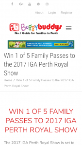 BuggyBuddys – Win A Family Pass To The Perth Royal Show?