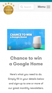 Canstar – Win A Google Home (prize valued at $199.)