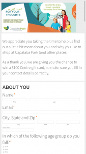 Capalaba Park Shopping Centre – Win A $100 Gift Card