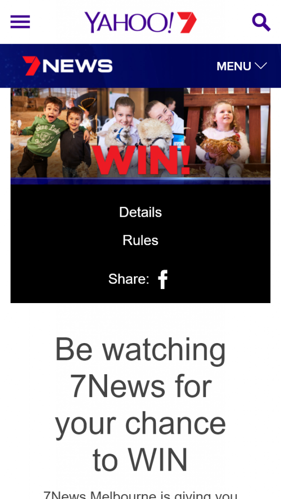 Channel 7 News – Win 1 Of 240 Royal Melbourne Show Family Prize Packages