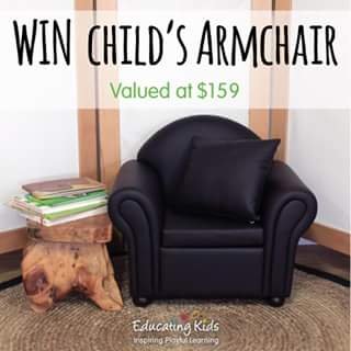 Educating Kids – Win A Child's Armchair Valued At $159 (prize valued at $159)