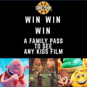 Cineplex Redbank plaza – Win a Family Pass to See Any Kids' Movie