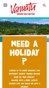 Discover Vanuatu – Win A 5 Night Vanuatu Escape  (prize valued at $5,100)