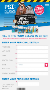 Elanco Animal Health – Purchase a participating Pet product to – Win a $20 Virtual Visa Card (prize valued at $15,000)