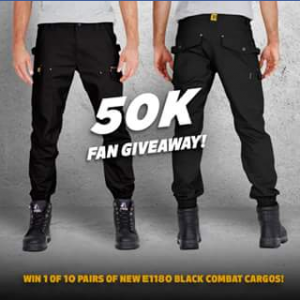 Eleven workwear – Win a Pair of Best Selling Combat Cargo Stovepipe Pants Each