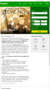 Europcar – Win The Ultimate Stevie Nicks VIP Experience (prize valued at $3,825)