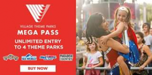 Families magazine Gold Coast – Win a Family Pass Mega Pass to Movieworld