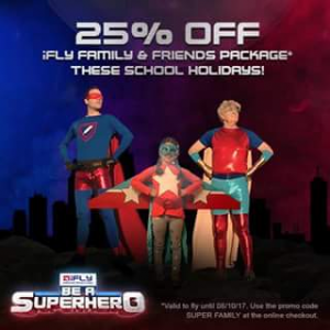 Families Magazine Gold Coast – Win One of Two Ifly Superhero Packages (prize valued at $99)