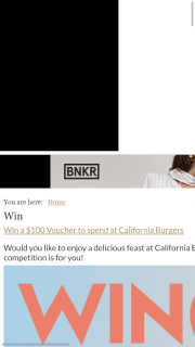 Fashion Weekly – Win A $100 Voucher To Enjoy At California Burgers (prize valued at $500)