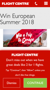 Flight Centre – Win 1 of 6 Epic Trips to Europe for You and a Friend (prize valued at $22,025)