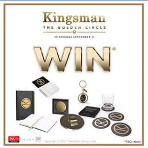 Hoyts Australia – Win 1 of 10 #kingsman the golden circle prize packs
