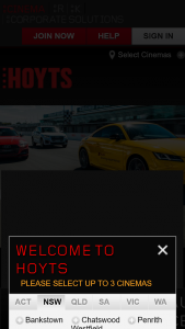 Hoyts cinemas – Win The Ultimate Audi Advanced Driving Experience (prize valued at $1,998)