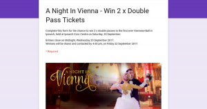 Ipswich Civic Centre – Win 2 X Double Passes To The First Ever Viennese Ball In Ipswich