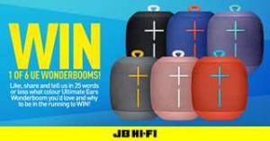 JB HiFi – Win 1 Of 6 Amazing Ultimate Ears Wonderbooms