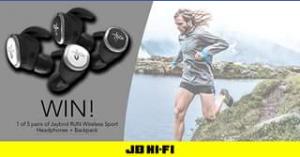 JB HiFi – Win One of Five Pairs of Run True Wireless Sports HeaDouble Passhones & Jaybird Backpacks