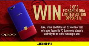 JB HiFi – Win One Of Three Exclusive Fc Barcelona Oppo R11 Handset