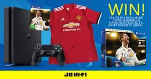 JB HiFi – Win Ps4 1tb Fifa 18 Ronaldo Console Bundle & Manchester United Fc Signed Jersey