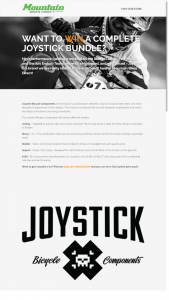 Mountain Bikes Direct – Win A Full Joystick Prize Pack (prize valued at $630)