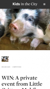 Kids in the City/ Kids on the Coast – Win A Private Event From Little Critters Mobile Farm