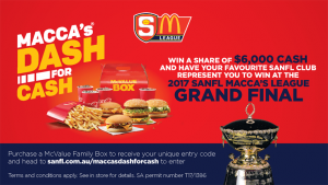 Macca's – Win Your Share Of $6k Cash (prize valued at  $7,000)