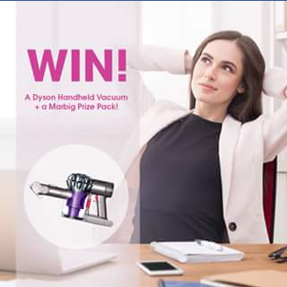 Marbig – Win A Dyson Handheld Vacuum Prize Pack  (prize valued at  $400)