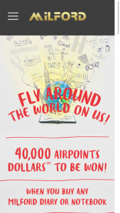 Milford – Win 20,000 Airpoints Dollars Or 1 of 10 Prizes of 2,000 Airpoints Dollars (prize valued at $36,592)