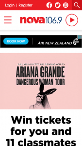 Nova 1069Fm – Win Tickets For You  11 Classmates To See Ariana Grande In Concert